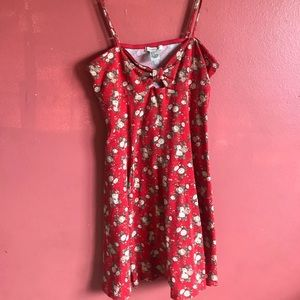Forever 21 Red Floral Dress